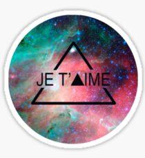 Galactic Je T'aime Sticker