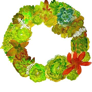 Succulent Wreath by charissecolbert