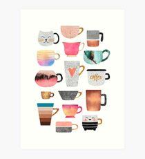 Kaffeetasse Sammlung Kunstdruck