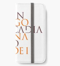 Et In Arcadia Ego iPhone Wallet/Case/Skin