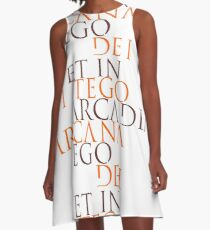 Et In Arcadia Ego A-Line Dress