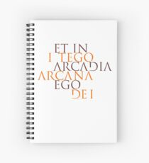 Et In Arcadia Ego Spiral Notebook