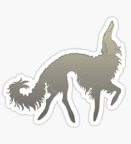 Borzoi Prance Sticker
