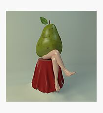 Pear woman Photographic Print