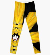 Black Gold Face Leggings