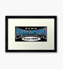 Pokemon Champion_Blue_DarkBG Framed Print