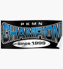 Pokemon Champion_Blue_DarkBG Poster