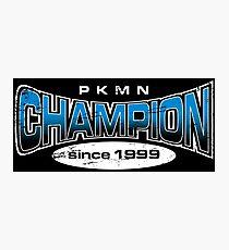 Pokemon Champion_Blue_DarkBG Photographic Print