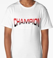 Pokemon Champion_Red_DarkBG Long T-Shirt