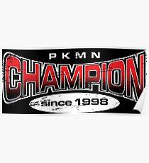Pokemon Champion_Red_DarkBG Poster