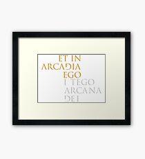 I Tego Arcana Dei Framed Print