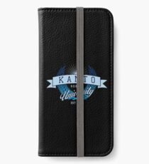 Kanto Region University_Dark BG iPhone Wallet/Case/Skin