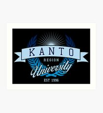 Kanto Region University_Dark BG Art Print