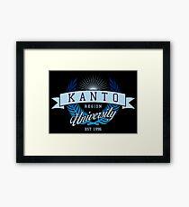 Kanto Region University_Dark BG Framed Print