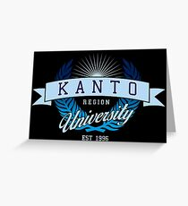 Kanto Region University_Dark BG Greeting Card