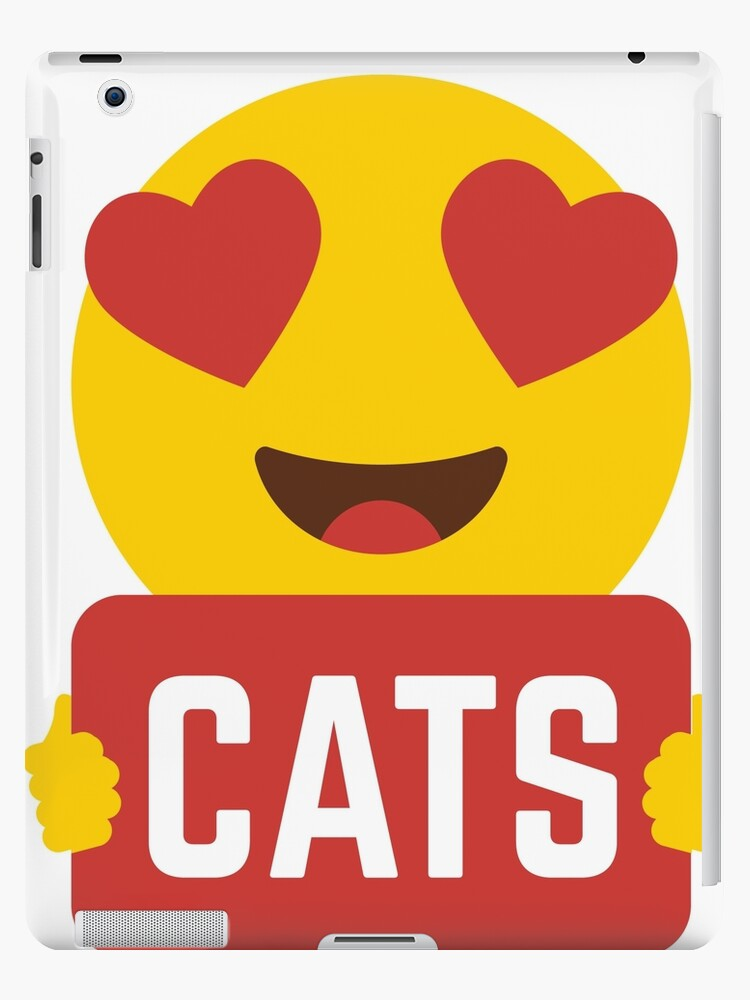 ae795f72e I love CATS Heart Eye Emoji Emoticon Funny CATS KITTENS KITTY players Graphic  Tee T shirt
