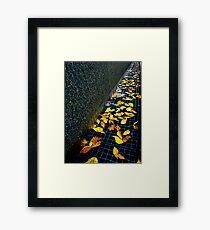 Autumn Grate Framed Print