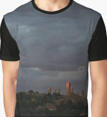 San Gimignano in Sunset Graphic T-Shirt