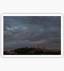 San Gimignano in Sunset Sticker