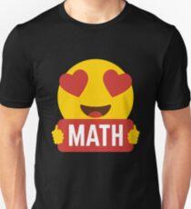 I love MATH MATHLETE Heart Eye Emoji Emoticon Funny MATH MATHLETE MATHEMATICS  SHIRT players Graphic Tee T shirt T-Shirt