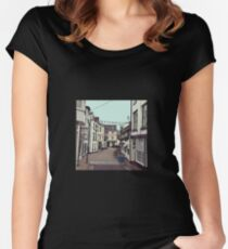 Ilfracombe Streetscape Women's Fitted Scoop T-Shirt