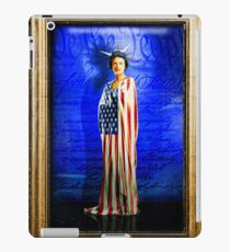 Vinilo o funda para iPad Miss Liberty