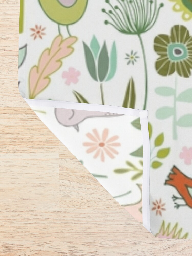 Alternate view of Birds and Blooms - Springtime - Pretty Floral Bird Pattern by Cecca Designs Shower Curtain