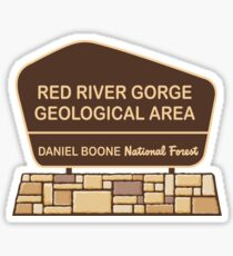 Red River Gorge Geological Area, Daniel Boone National Forest  Sticker