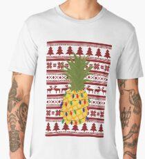 Ugly Christmas Sweater Pineapple Men's Premium T-Shirt