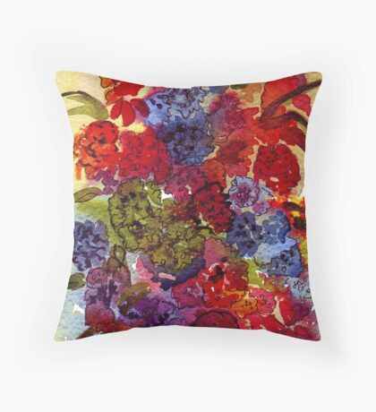 Elaborate blossoms, in every hue Throw Pillow