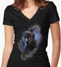 Camiseta entallada de cuello en V Arkham Knight