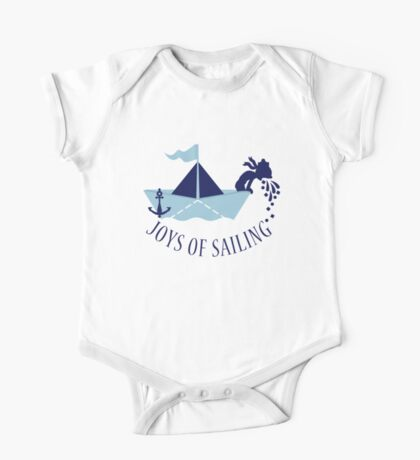 Seasick on a Paper Boat VRS2 Kids Clothes