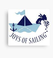 Seasick on a Paper Boat VRS2 Canvas Print
