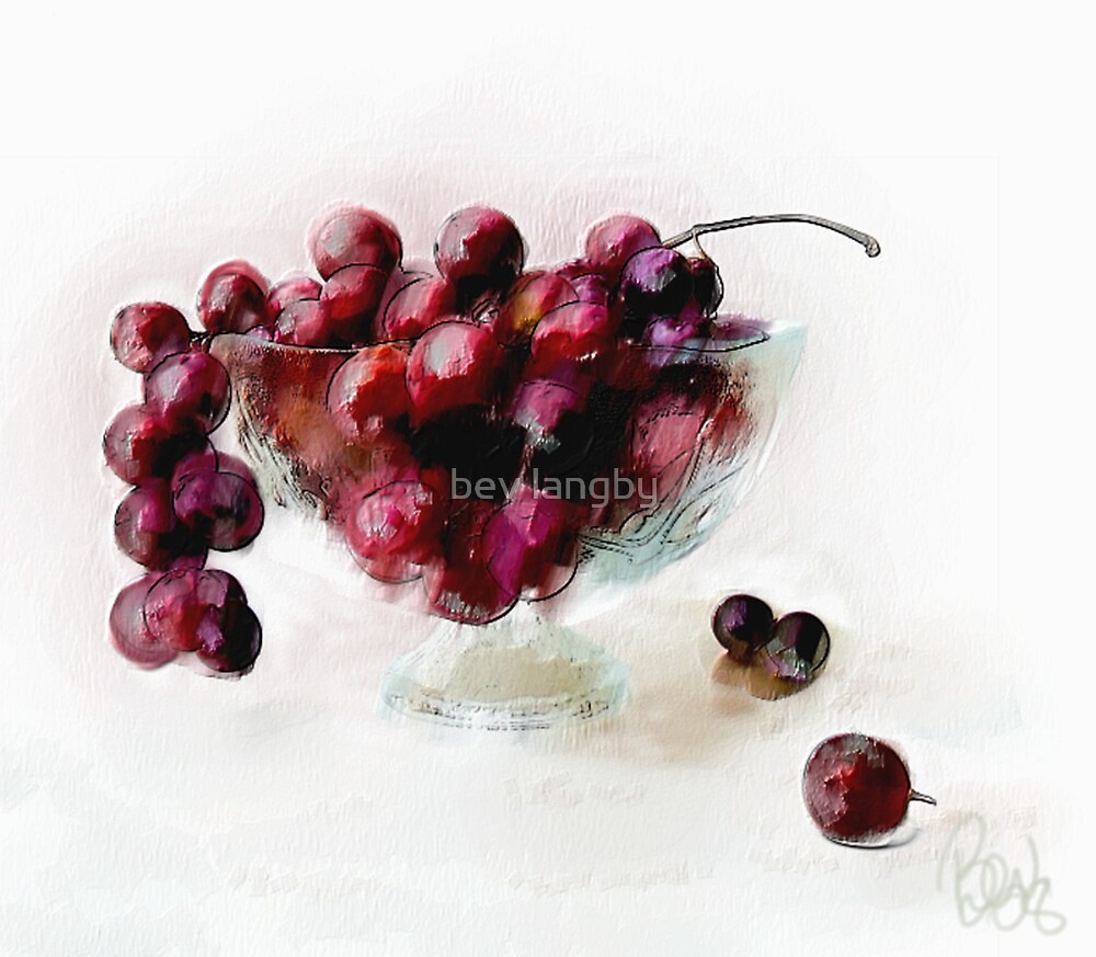 Textured Grapes by bev langby