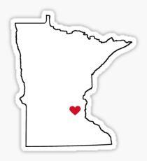 MN Love red heart Sticker