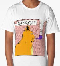 The Smoking Cat Long T-Shirt