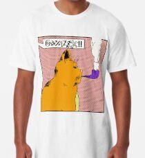 Camiseta larga El gato que fuma