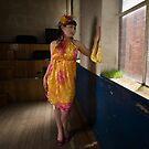 Jo in 'Saffron and Cyclamen' Front veiw by Lisa Defazio