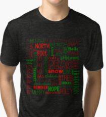 Festive Christmas Graphic Tri-blend T-Shirt