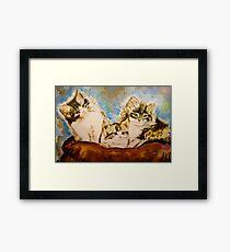Atomic Kittens Framed Print