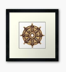 Buddhism  -  DHARMA WHEEL  Framed Print