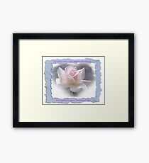Sheer Bliss with saying Framed Print