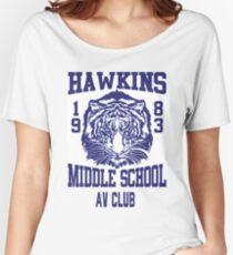 Hawkins Middle School AV Club Women's Relaxed Fit T-Shirt
