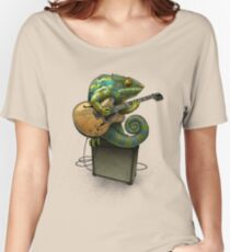 Chameleon Plays the Blues... plus a few other colors Women's Relaxed Fit T-Shirt