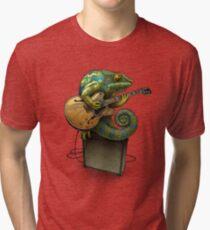 Chameleon Plays the Blues... plus a few other colors Tri-blend T-Shirt