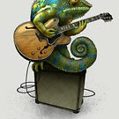 Chameleon Plays the Blues... plus a few other colors by CatLauncher