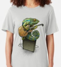 Chameleon Plays the Blues... plus a few other colors Slim Fit T-Shirt