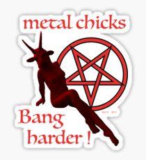 METAL CHICKS Sticker