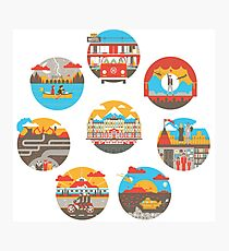 Wes Anderson Films Icon Illustrations Photographic Print
