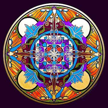 """La Coeur de la Lune"" Mandala by Marg Thomson fullcirclemandalas by fullcirclemandalas"